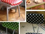 Relooker chaises avec toile cirée