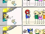 Batman, Spiderman Wolverine jouent pompiers