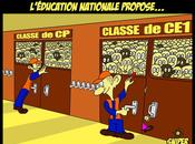 DESSIN PRESSE L'éducation nationale propose solution miracle pour classes surchargées