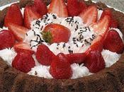tarte fraises fond genoise chocolat