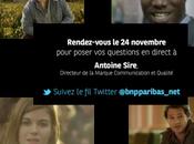 Paribas répond questions direct réseaux sociaux