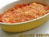 Blettes gratinées sauce tomate