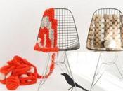 chaises design tricotées