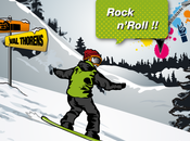 L'advergame appliqué l'univers Snowboard Rock'n ride