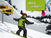 L'advergame appliqué l'univers Snowboard Rock'n ride