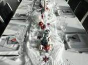 table noël blanche, verte rouge argentée)