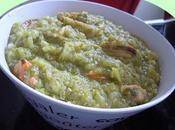 Soupe brocolis,moules,purée noisettes,quinoa,son d'avoine