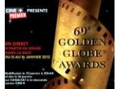 Golden Globe awards retransmis direct nuit janvier 2012