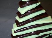 Sapin chocolat pour decorer table noel