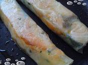 Brick pavé saumon,saumon fumé poêle