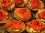 Bouchées saumon crème ciboulette