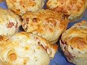 Muffins fromage, jambon basilic