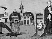Doodle Charles Addams, dessinateur famille Addams