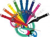 montres squelettes colorées Swatch