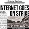 Goes Strike mobilisation anti Sopa Pipa