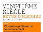 L'invention politique l'environnement. Revue Vingtième Siècle Presses Sciences