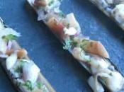 Couteaux sautés, mayonnaise wasabi