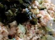 Salade quinoa crevettes, concombre wakamé
