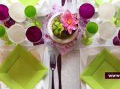 Decoration table mariage fleurie