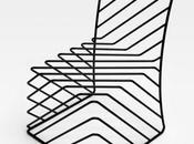 Black wire chair nendo