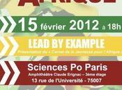 """Présentation """"Carnet Jeunesse pour l'Afrique Mercredi février 2012 Sciences-Po"""