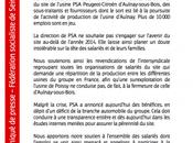 Soutien salariés Peugeot sous traitants...