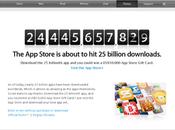 dollars pour milliards d'applications iPhone téléchargées