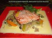 Pave saumon fenouil emulsion sauce orange