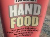 crème pour mains colle pas...Hand Food Soap Glory