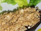 Aubergine chévre flocons d'avoine.