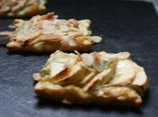 Fines tartelettes pommes, compote d'Angélique amandes effilées