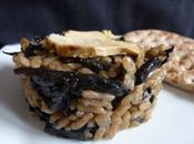 Risotto champignons (trompettes mort) foie gras
