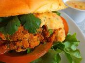 Thaï burger saumon sauce mangue