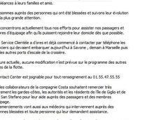 Costa-Croisières tente sauver e-réputation