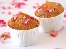 Muffins pralines roses