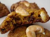 Biscuits citrouille, noix cajou pépites chocolat