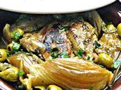 Tajine poulet olives fenouil
