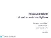 slide mercredi Réseaux sociaux bons choix, erreurs éviter Word Sense