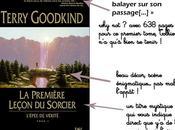 L'Épée vérité, tome première leçon sorcier, Terry Goodkind