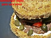 Hamburger léger, pain sons