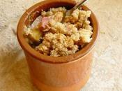 Crumble flocons d'épeautre rhubarbe banane