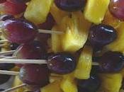 Brochettes Ananas Mariné Raisins Noirs