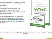 "L'hôtel Onomo Dakar Airport reçoit ""Prix d'Excellence 2012"" Trip Advisor"