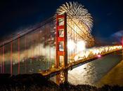 Magnifique d'artifice pour Golden Gate