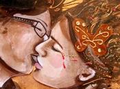 peinture toile d'un baiser d'amour