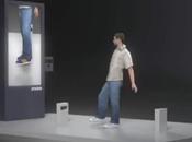 Essayer chaussures virtuellement grâce Kinect