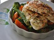 Filets poisson cajun, salade légumes chaude