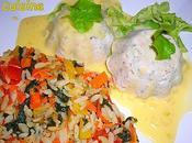 Charlottes saumon/colin l'oseille leur sauce beurre blanc