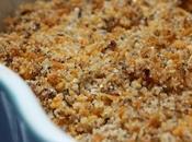 Crumble poudre noisettes, corn flakes pommes