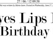 #6BlogBirthday Contest Eyes Lips Face Monde Nous!